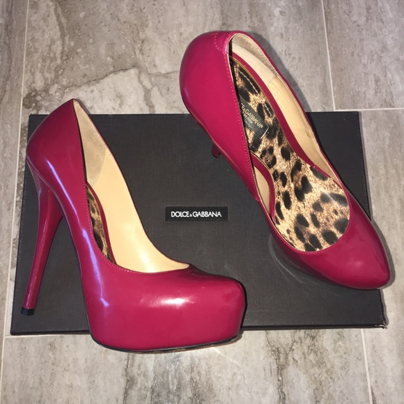 546aa7fafaeb Dolce   Gabbana Shoes - Patent leather wine colored heels